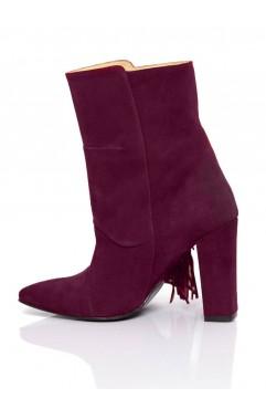 Burgundy Arianna Ankle Boots