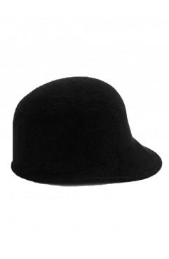 Black Clio Cloche Hat