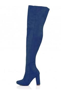 Blue Clara Long Boots