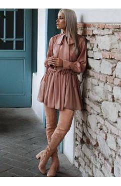 Nude Long Boots Clara