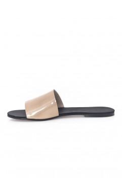 Papuci  dama din piele naturala Andora Nude