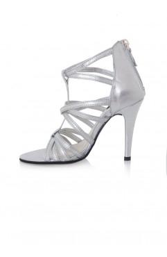 Sandale  dama din piele naturala Hera Argintii
