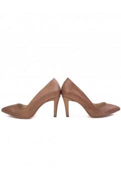 Pantofi dama din piele naturala cu toc Kylie