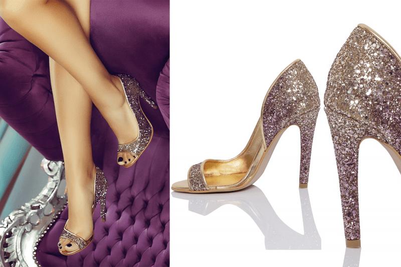 sandale cu glitter elegante pentru petrecere